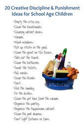 20 Creative Discipline and Punishment Ideas for Sc…
