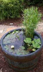 32 fantastische Hinterhofteiche und Ideen für die Wassergartengestaltung – HomeSp specific   – jardines