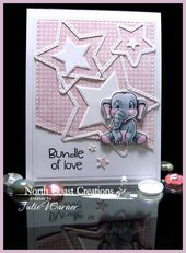 Baby Cards North Coast Creations Sept Release - Baby & Animals card - Julie Warner for NCC