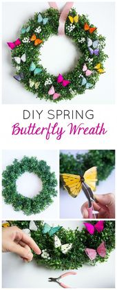 Make this simple and gorgeous DIY spring butterfly…