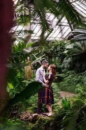 Romantic December Engagement Session at Garfield Park Conservatory