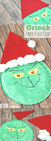 Who doesn't love the Grinch during the holidays? This Grinch Paper Plate Craft f… – Maude Zemlak