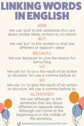 Linking phrases in English grammar. Intermediate stage English Grammar the simple wa…