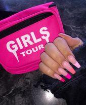 "Amanda on Instagram: ""Pink Ombré 💖  Nails inspired by @khloekardashian x @chaunlegend  Done by the amazing @dolldupnails"""