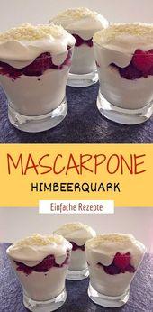 MASCARPONE-HASPERRY-QUARK  – Einfache Rezepte ❤️