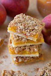 Versüßen Sie Ihren Sommer mit diesen Pfirsichkuchenriegeln! Sie sind die perfekte Kombination …   – Sweet Tooth