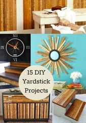 15 Awesome DIY Yardstick Decor Projects