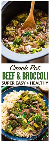 CROCKPOT   SLOW COOKER BEEF AND BROCCOLI is Tasty and so yumm !!!  Just CLICK TH…