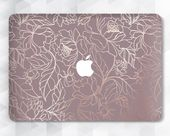 Flowers Macbook case Floral Pink Macbook Pro 13 inch 2018 Air 13 Pro 15 Rose Gold Macbook 12 Hard ca