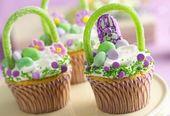 Simple Easter Basket Cupcakes Recipe