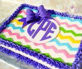 Chevron & Monogramm – Kuchen von Cups-N-Cakes – Cakes! – #Cake #Cakes #Chevron #Cup …   – Kuchendesign