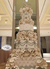 Hochzeitstorte Inspiration – Royal Cakes & Design   – bolos decorados