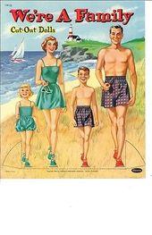 VINTAGE UNCUT WE'RE A FAMILY PAPER DOLLS HD LASER REPRO~HI QUAL~LO PRICE~CUTE  | eBay