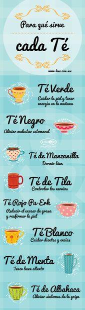 ¿Para que sirve cada tipo de té