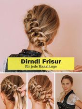 Dirndl hairstyle for Oktoberfest – Instructions for every hair length