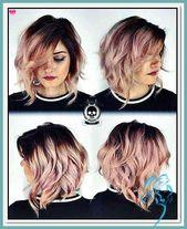 10 hübsche Pastell Haarfarbe Ideen met blondines, silbernen, lilac … | Damen Frisuren –  – #Kurzhaarfrisuren –  – #Kurzhaarfrisuren
