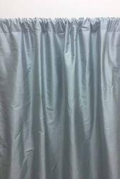 Powder Blue Silk curtains, light greyish blue, dupioni silk, Rod pocket, silk dupioni curtains, solid drapery -1 panel- 52×96 inch – slcur04