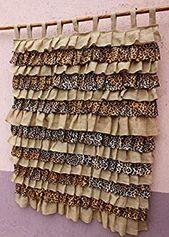 Burlap Ruffle Curtain Leopard Curtain Panels Jute Cafe Curtains