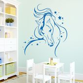 "** Wall Decal: Horse with Stars ** ** Tell us your favorite color in the ""Verk …  – For the Home"