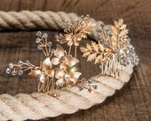 Gold Bridal Headpiece, Vintage Wedding Hair Accessories, Boho Bridal Jewelry, Golden …, #Boho # …