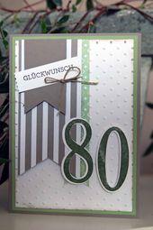 Hallo Hatte die Ehre eine Karte zum 80. Geburtstag…