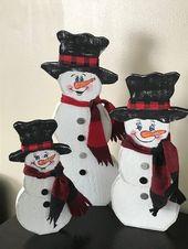 Rustic Snowman, Snowman set, Primitive Snowman, Snowman, Farmhouse Decor,Christmas, Rustic Christmas decor,Christmas Decorations, Farmhouse