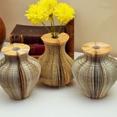vase en papier plier