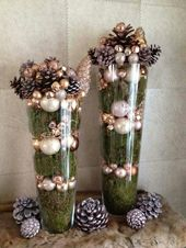 Dollar Store Christmas Table Centerpieces – Wine Glass Candle Holders