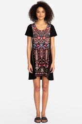 Johnny Was Black JWLA Frederique Embroidered Tunic Dress Boho Chic J23419 NEW – Johnny Was