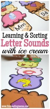 Sorting Letter Sounds with Ice Cream