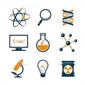 Chemistry And Bio Technology Science Icons  #graphicriver 2