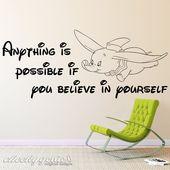Details about Disney Dumbo Believe in Yourself Vinyl Wall Art Silhouette Nursery Child Room