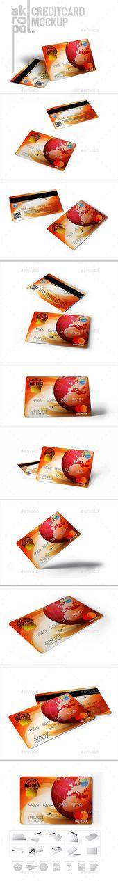 Credit Cards Mockup 3000×2250 pixel Full editable 300Dpi High Resolution 10 diff…,  #3000×2…