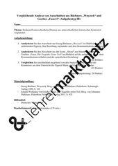 Vergleichende Analyse Von Woyzeck Und Faust I Oberstufe 1b Unterrichtsmaterial Im Fach Deutsch Unterrichtsmaterial Lehrmaterial Deutsch