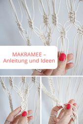 Makramee – Anleitung und Ideen