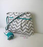 Stella DELUXE Ensemble de sacs à couches avec matelas à langer – Grand – NOUVEAU gris …   – Bébé Poussette