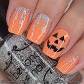 Glitter Blood & Pumpkin Nails – Beauty