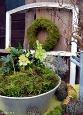 Courtyard 9: No moss going on and the desire for a little spring   – Deko