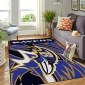 Baltimore Ravens Huge Logo Christmas Gift For Football Lovers Area Rug – Football lovers