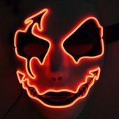 Halloween Panic Mask Night Atmosphere Decorative Full Face Mask Men Women Wear LED Light-emitting Ghoststep Mask Horror Decor