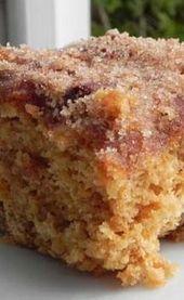 Cinnamon Sugar Apple Cake | The Pajama Chef  – Yummy-looking Foods