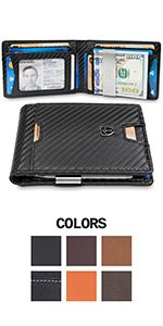 "TRAVANDO Money Clip Wallet/""RIO/"" Mens Wallets slim Front Pocket RFID..."