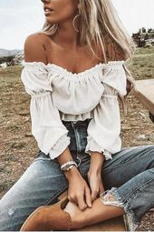 Sexy Chiffon Long Sleeves T-Shirts Blouses 1