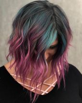 10 Creative Hair Color Ideas for Medium Length Hair, Medium Haircut 2020