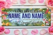 Completely happy Anniversary Banner 21st Years Collectively Wedding ceremony Anniversary Banner Customized Vinyl Anniversary Social gathering Banner Ornament Backdrop four Sizes