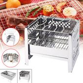 Outdoor Camping Picnic BBQ Grill Folding Stainless…
