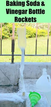 Fast bottle rockets with baking soda and vinegar  #baking #bottle #rockets #vinegar