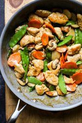 Moo Goo Gai Pan (Chinese Chicken and Mushroom Stir Fry)  The Defined Dish #paleo…
