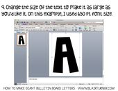 How to Make Giant Bulletin Board Letters (BlairTurner.com)