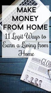 11 einfache Möglichkeiten, Geld von zu Hause aus zu verdienen, von denen Sie noch nie gehört haben – Earn Money from Home